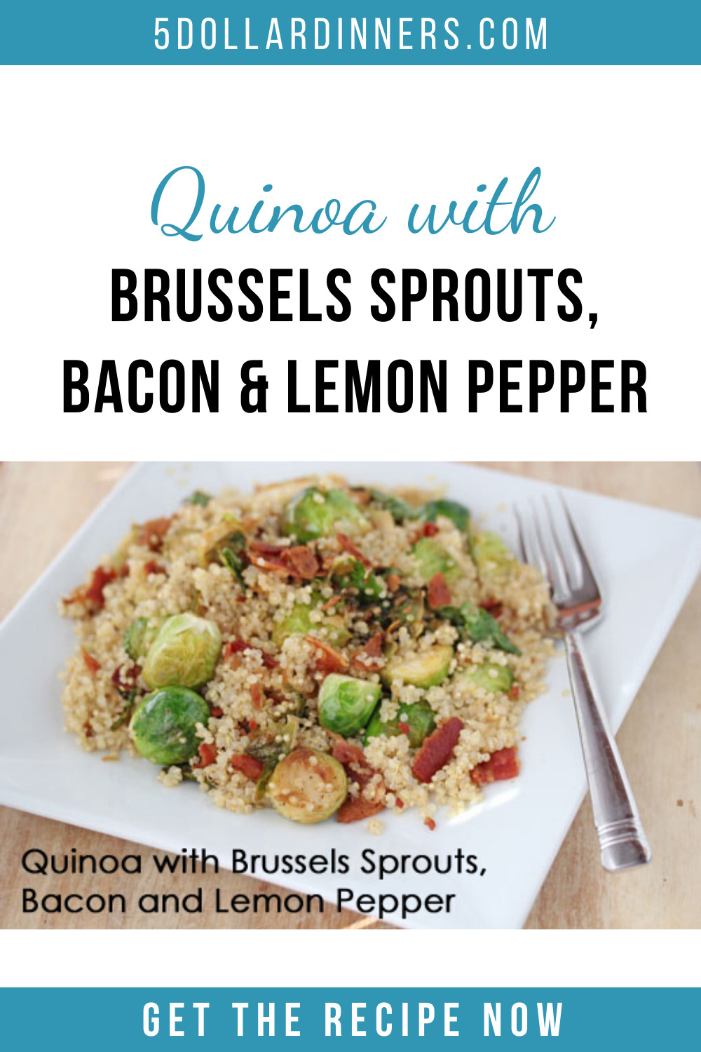 quinoa with brussels sprouts