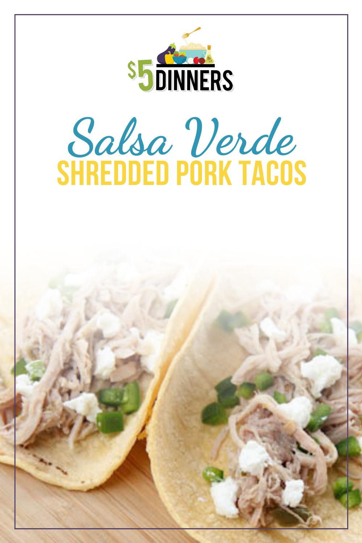 slow cooker salsa verde shredded pork tacos