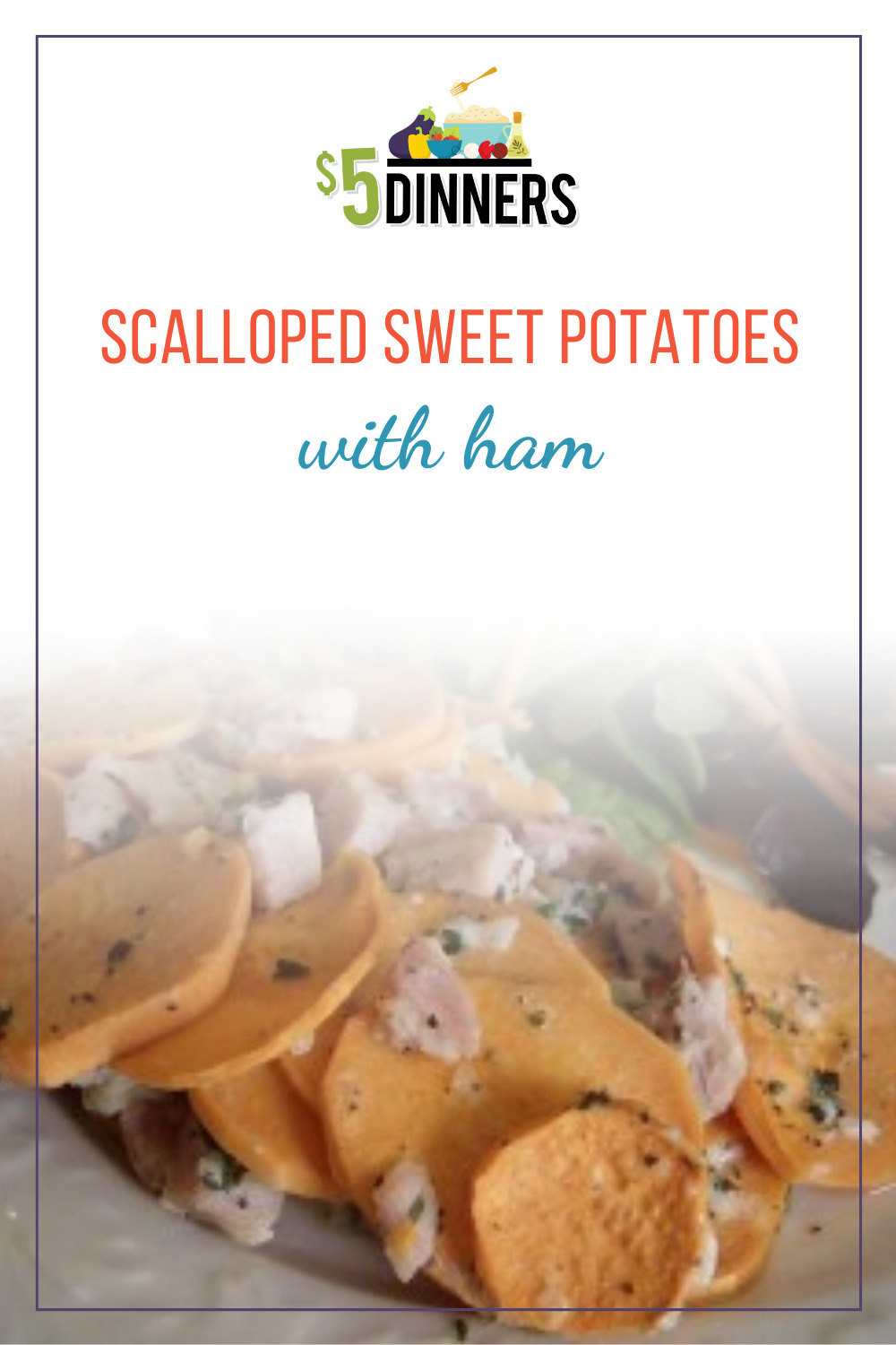 scalloped sweet potatoes with ham