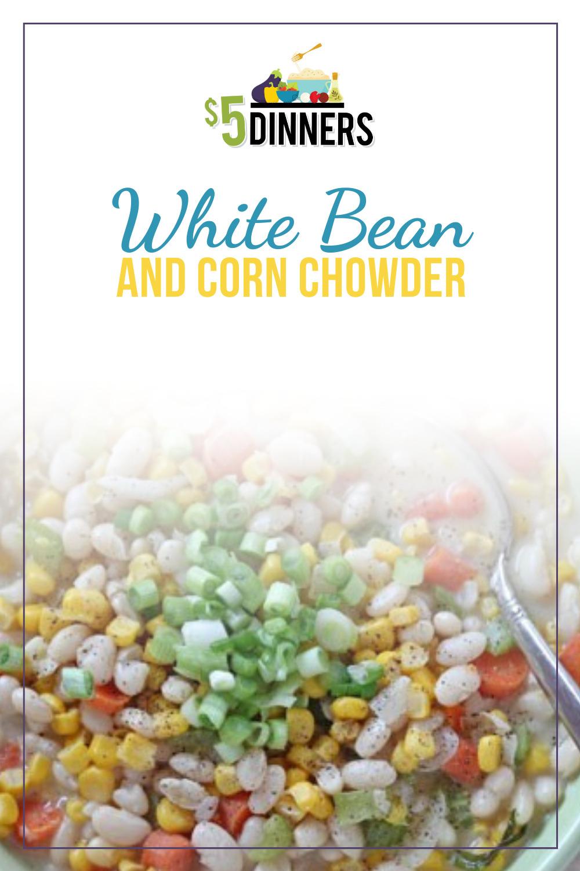 white bean and corn chowder