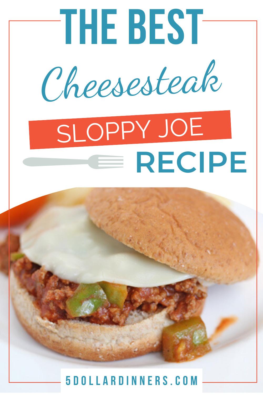 cheesesteak sloppy joes