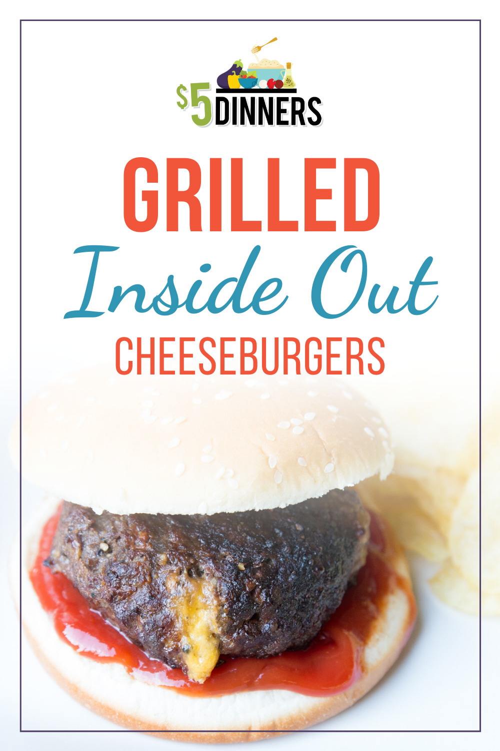 grilled inside out cheeseburgers