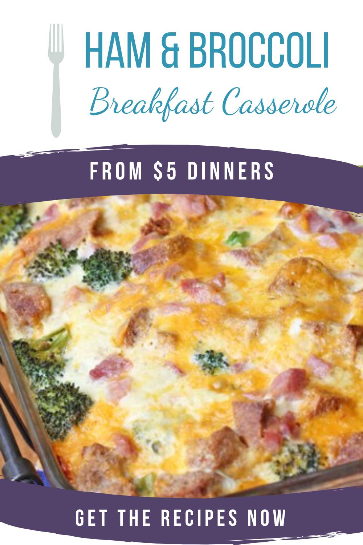 ham and broccoli breakfast casserole