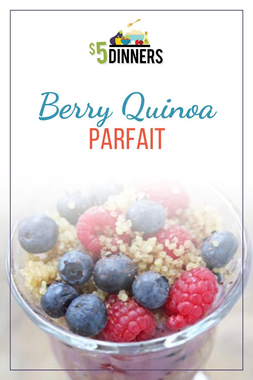 berry quinoa parfait