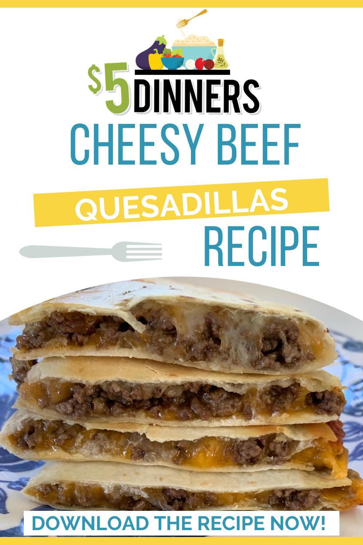 cheesy beef quesadillas