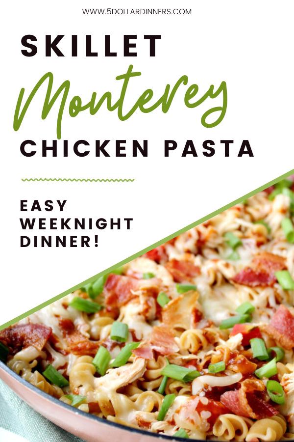 skillet monterey chicken with pasts