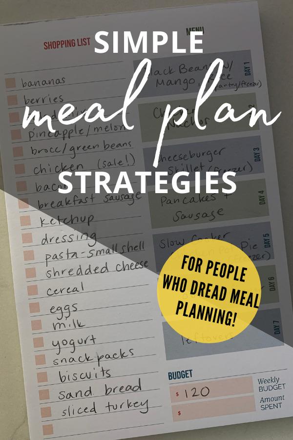 easy meal plan strategies