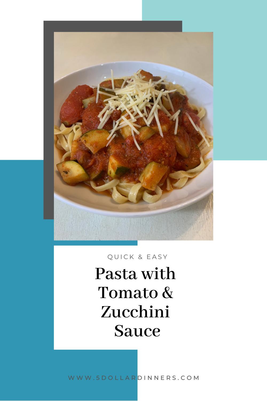 pasta with zucchini tomato sauce