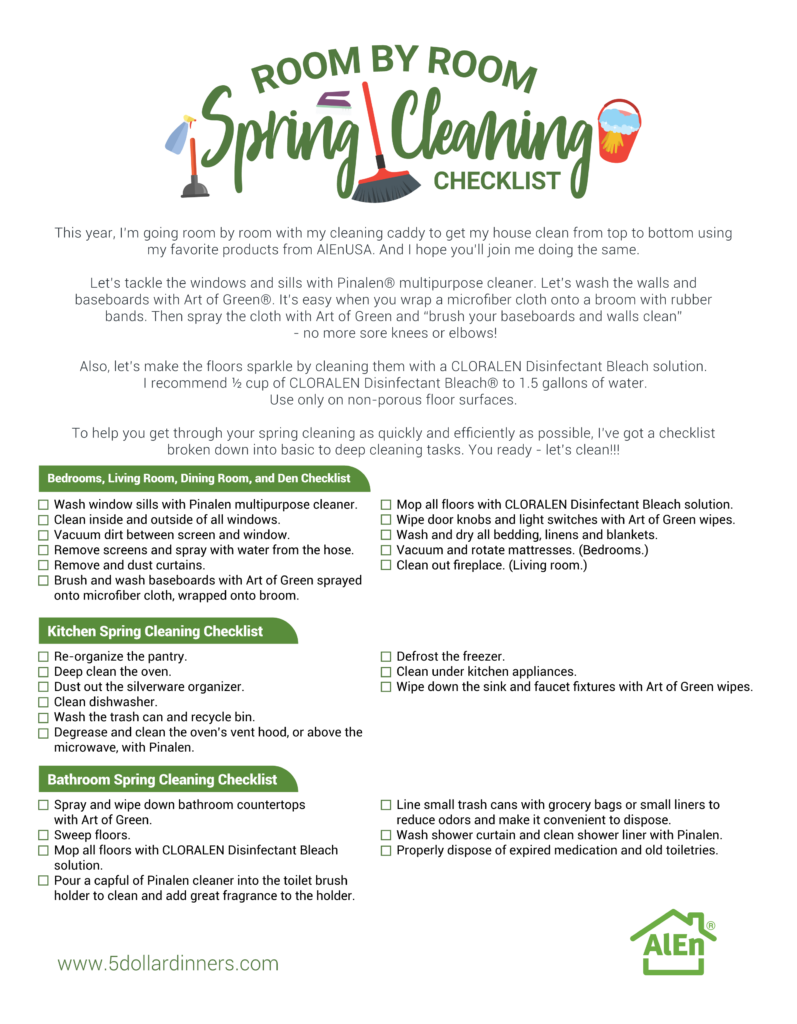 spring cleaning strategy checklist