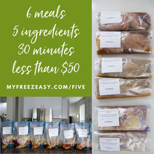 5 ingredient recipes freezer meals