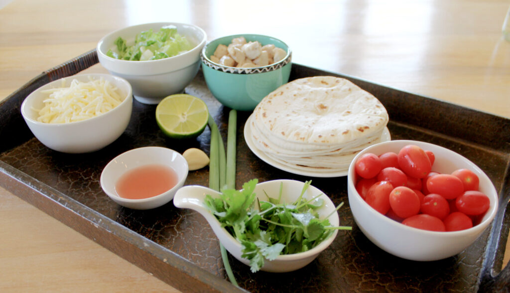 ingredients for cilantro lime tacos